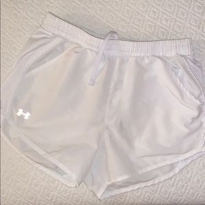 XS White Under Armour Running Shorts